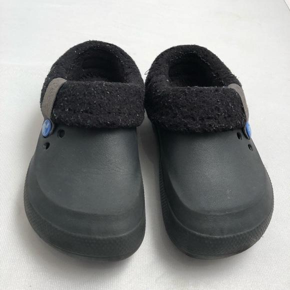 1b3e70840a CROCS Shoes | Black Mammoth Evo Lined Clogs J1 | Poshmark